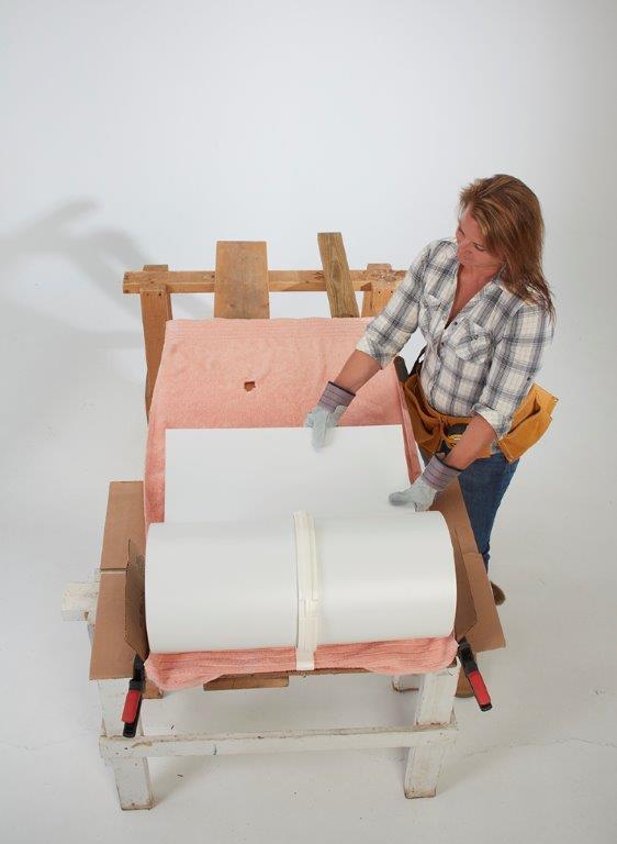 Assembling the BigHorn™ on planks.